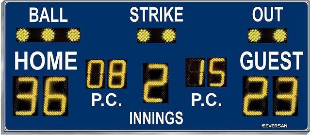 Baseball Scoreboard 9116