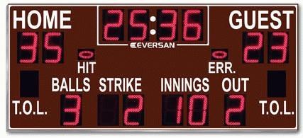 Baseball-football scoreboard 9360-TBA