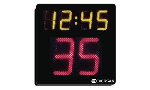 "Network Capable Shot Clock/Game Timer with 15"" and 8"" Indoor/Outdoor LED Digits"