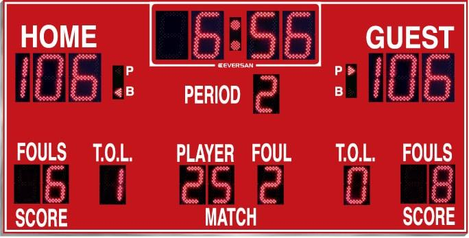 Basketball Scoreboard model 665