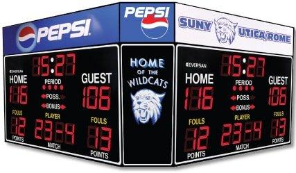 Four Sided Basketball Scoreboard