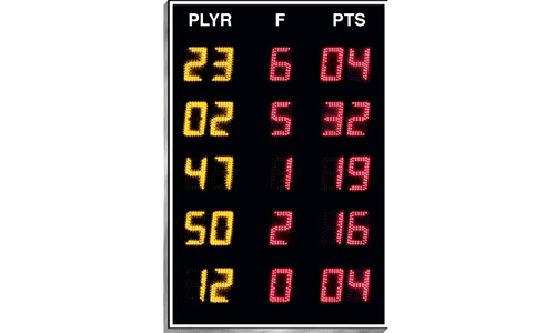 Player/Foul Statistics Panels