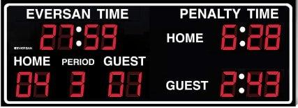 Indoor Hockey Scoreboard Model 8365