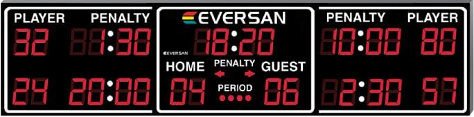 Indoor Ice Hockey Scoreboard Model 8385