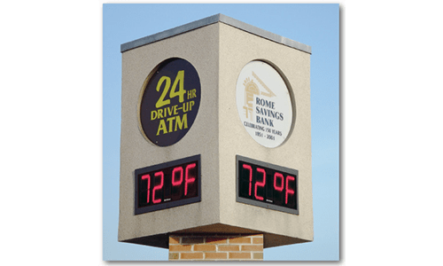 Time & Temperature Display Model 9386t