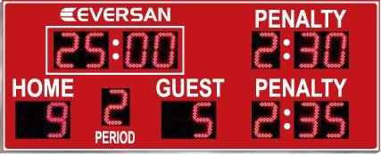 Small Outdoor Hockey Scoreboard Model 9665