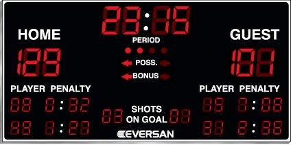 Multi Sport Hockey Scoreboard Model 9775