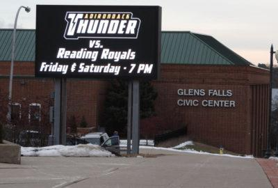 Glens Falls Civic Center Entry Display