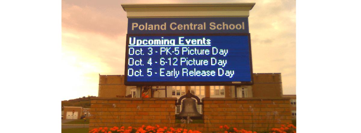 Poland Central School District LED Sign, Poland NY